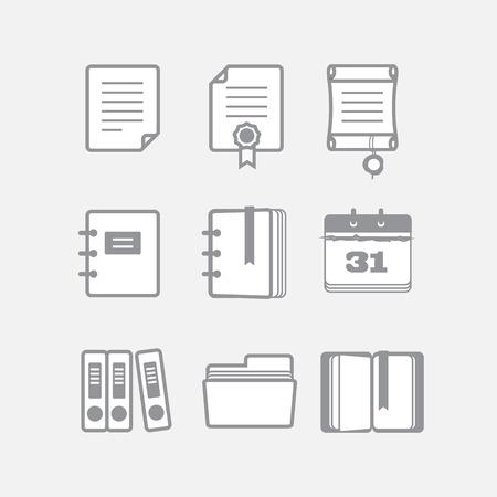 Office ドキュメントのベクトルのアイコンを設定 写真素材 - 22963282