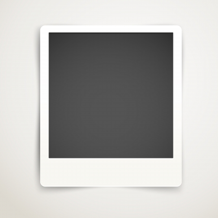 Blank photo frame template  Ready for a content Stock Vector - 22963293