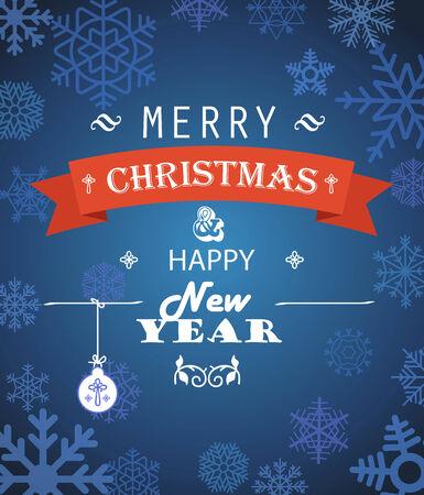 snoflake: Merry Christmas decorative invitation card