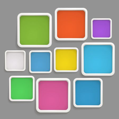 text boxes: Abstract background of color boxes. Template for a text Illustration