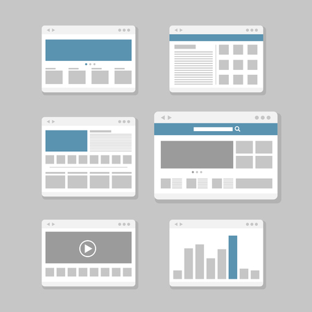 internet browser: web site page templates collection Illustration