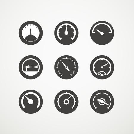 速度計の異なる slyles ベクトル コレクション 写真素材 - 23649106