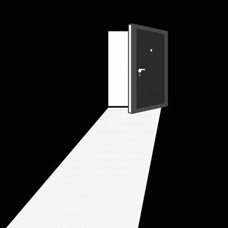 Open door illustration Vector