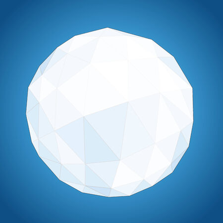 Abstract geometric paper origami sphere composition Vector