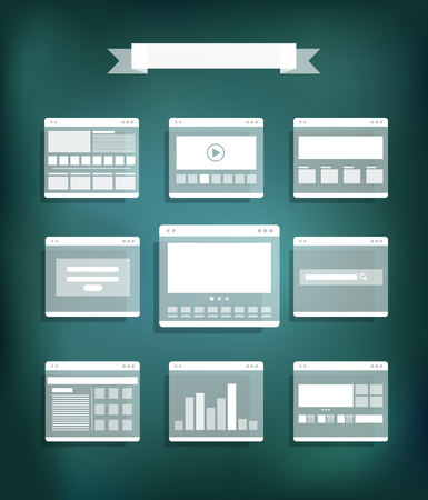 Transparent web site page templates collection