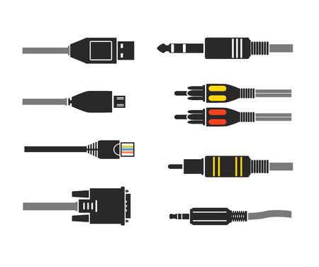 別の近代的な接続プラグ。ベクトル シルエット