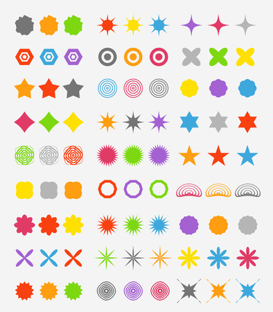 Abstract primitive color figures collection Stock Vector - 23649192