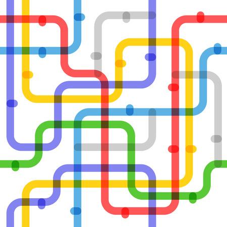 Абстрактная схема метро цвета