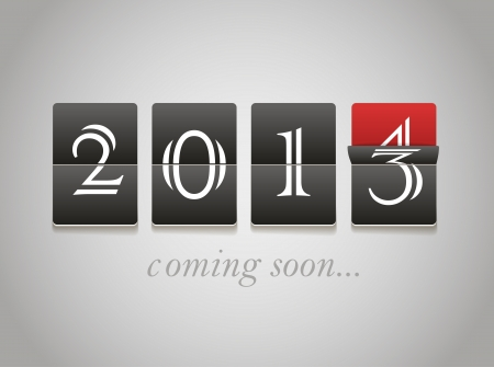 2014 coming soon. Digital board Vector