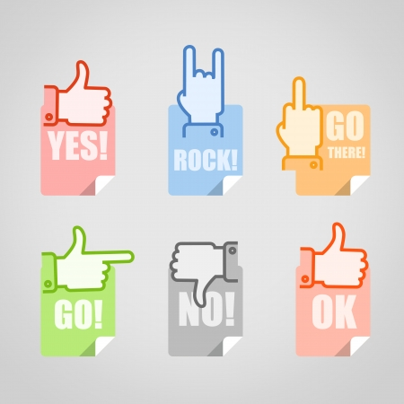 Different gestures icons set Vector