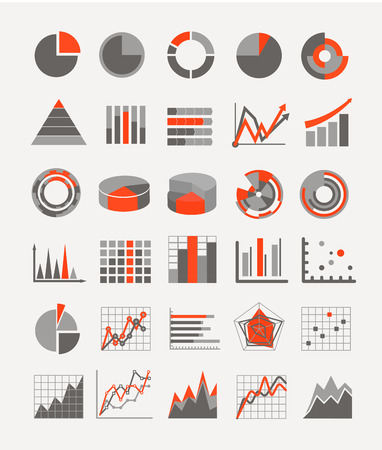 Graphic business ratings and charts  infographic elements Illusztráció