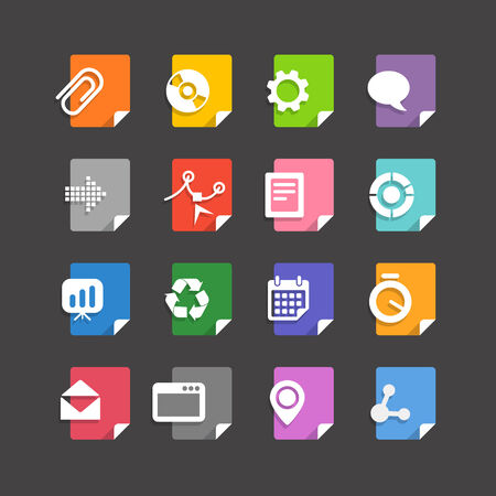 file types: Different file types icons set