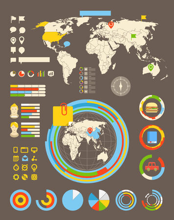 Infographic elements all selectable Vector