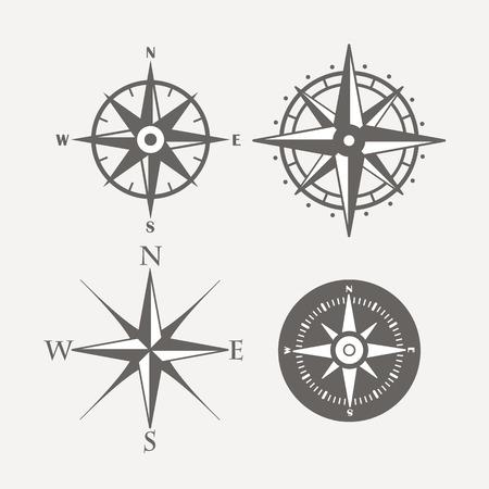 brujula: Rosa de los vientos colecci�n retro de dise�o vectorial Vectores