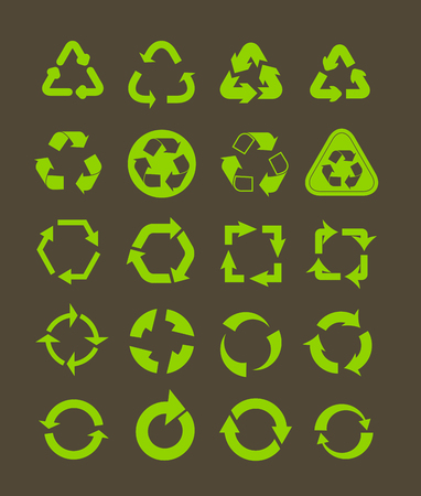 Collection of different recycle icons Stock Vector - 23909288