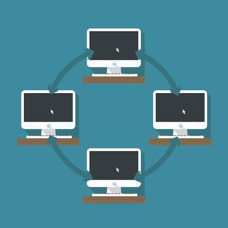 Abstract computer network scheme Stock Vector - 23909357