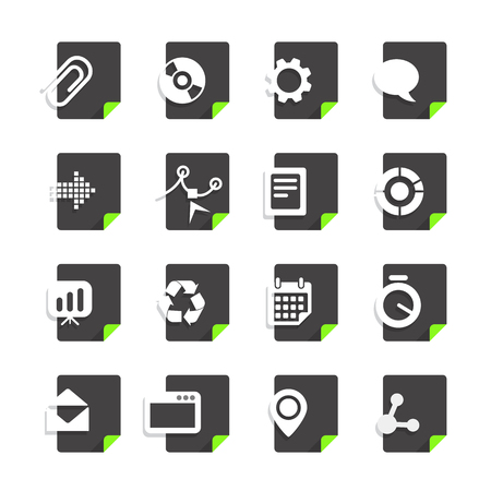 file types: Different file types icons set isolated on white
