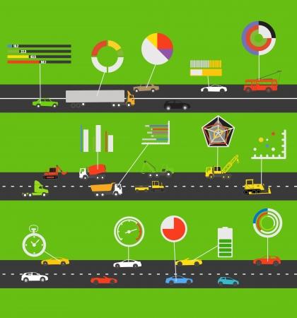 parameter: Transportation scheme with infographic elements Illustration