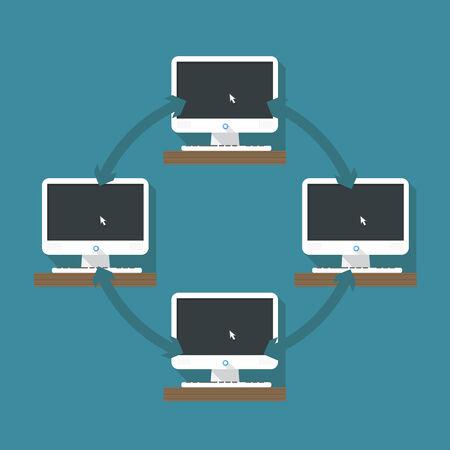 Abstract computer network scheme Stock Vector - 23990092