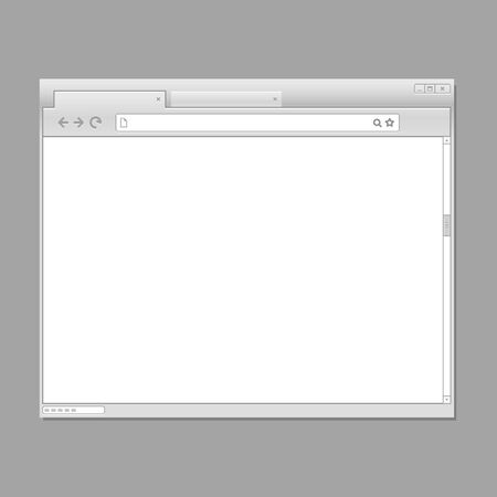 Modern web browser template. Ready for a content Vector