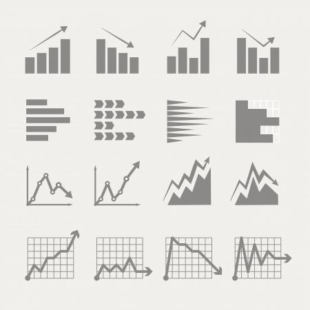 グラフィック事業の評価とグラフのコレクションです。インフォ グラフィック要素