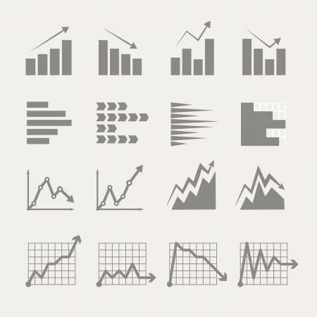 bar chart: Graphic business ratings and charts collection. infographic elements