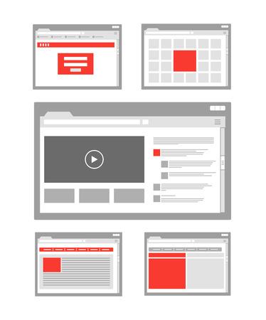 site web: raccolta di modelli di pagine del sito web