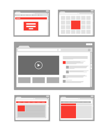 web site page templates collection Illusztráció