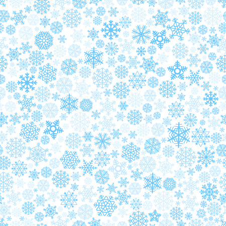 Abstract seamless background of blue snowflakes