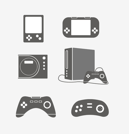 portable console: Modern portable game console silhouettes