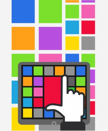 Using color tile interface  Vector