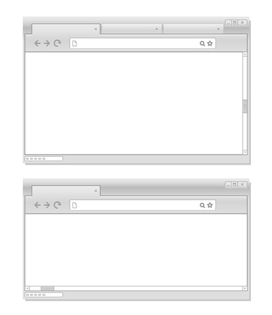 Web browser windows template  Ready for a content Vector