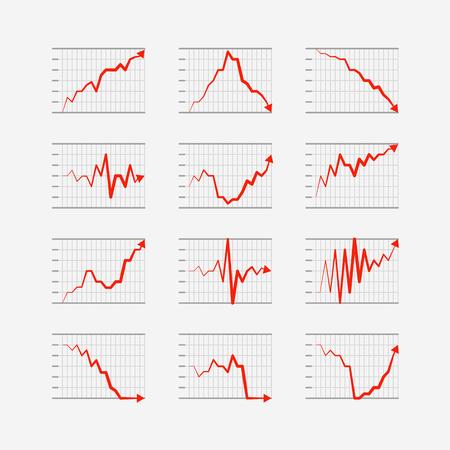 votaciones: Elementos calificaciones empresariales gr�ficas y tablas colecci�n Infograf�a Vectores