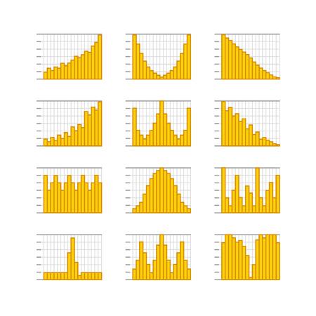 グラフィック事業の評価とグラフ コレクション インフォ グラフィック要素