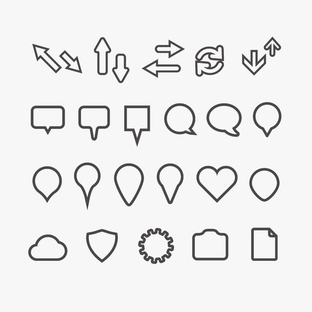 Different web icons collection Vector