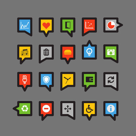 informer: Color speech clouds with different icons