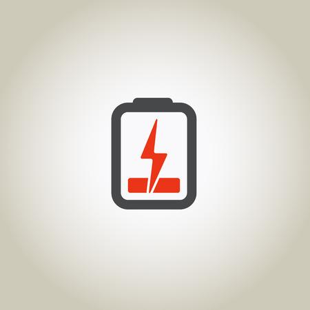 Accumulator icon with lighting symbol Vector