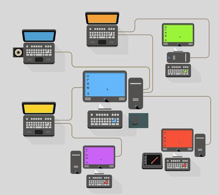provide information: Abstract modern network scheme illustration