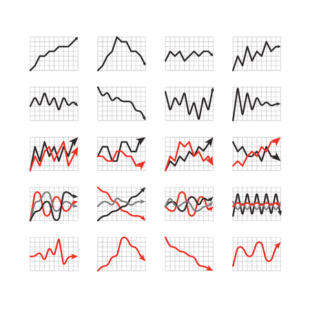 accountancy: Graphic business ratings and charts collection  Infographic elements Illustration