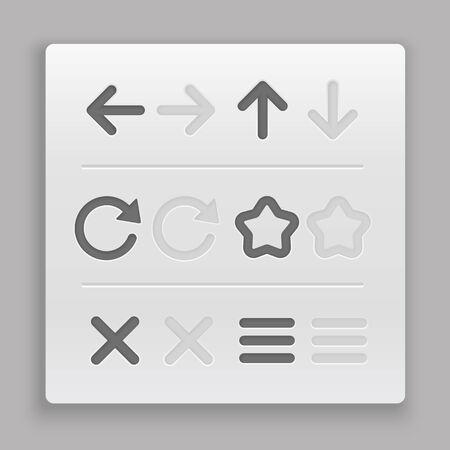 navigation panel: Web navigation buttons clip-art  Design elements Illustration