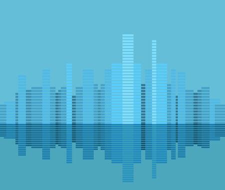 Modern city district illustration Stock Vector - 26491899