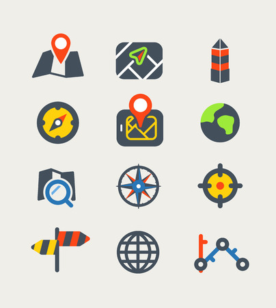 poi: Vector icons Illustration