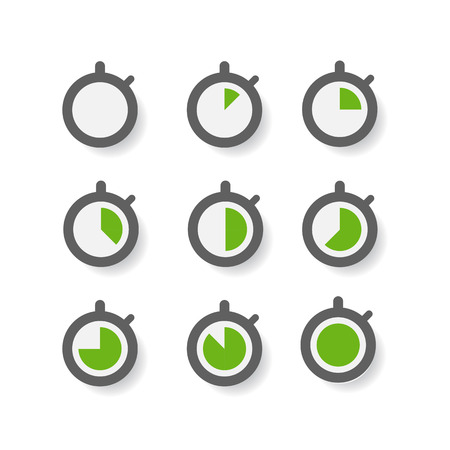 Clock icons collection  Design elements