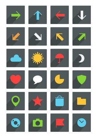 tree disc: Modern thin web icons collection  Illustration