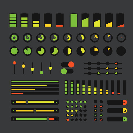 interface design: Different interface design elements  Flat design Illustration