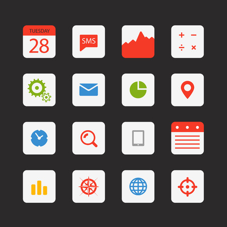 Modern gadgets buttons collection  Vector