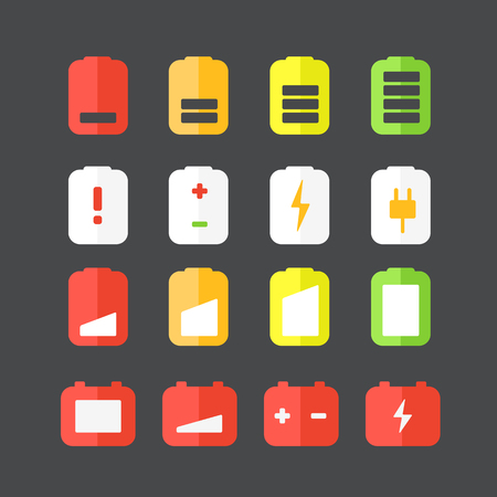 accumulator: Different accumulator status icons