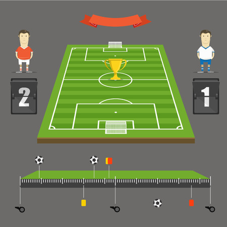offside: Soccer match statistics template Illustration
