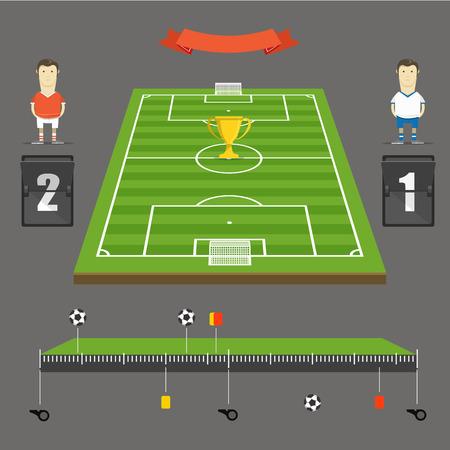 touchline: Soccer match statistics template Illustration