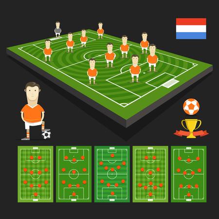 crossbars: Holland soccer team